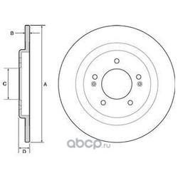 Тормозной диск (Delphi) BG4563