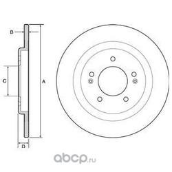 Тормозной диск (Delphi) BG4563C