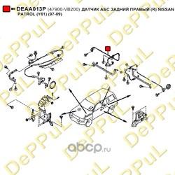 Датчик АБС задний правый (DePPuL) DEAA013P