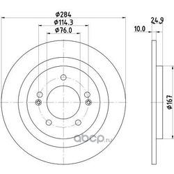 Тормозной диск (DON) PCD14292