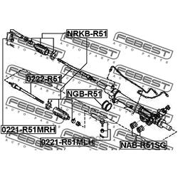 Тяга рулевая (Febest) 0222R51
