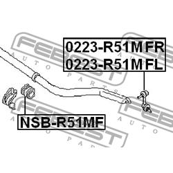 Тяга стабилизатора передняя левая (Febest) 0223R51MFL