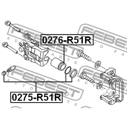 Поршень суппорта тормозного заднего (Febest) 0276R51R