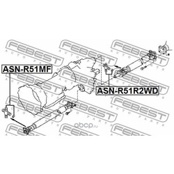 Крестовина карданного вала 29x95 (Febest) ASNR51MF