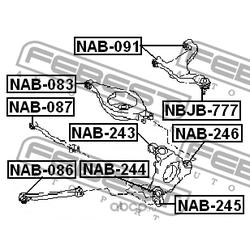 Сайлентблок заднего верхнего рычага (Febest) NAB091
