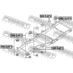 Подушка рамы (Febest) NMSAF6