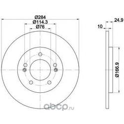 Тормозной диск (HELLA PAGID) 55391