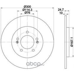 Тормозной диск (HELLA PAGID) 55392