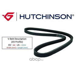 Клиновой ремень (HUTCHINSON) AV13LA1075