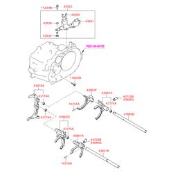 Рычаг КПП (Hyundai-KIA) 4380224310
