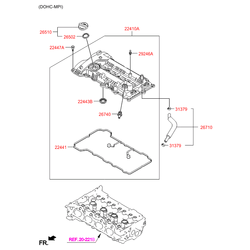 Клапанная крышка (Hyundai-KIA) 224102E200