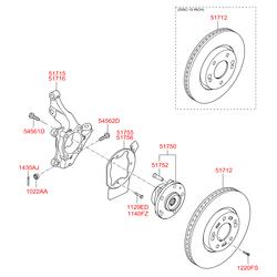 Тормозной диск (Hyundai-KIA) 1220306167B