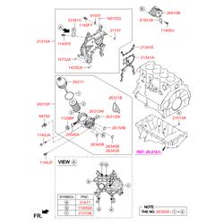 Масляный фильтр (Hyundai-KIA) 263102A610