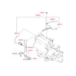 Шланг топливной системы (Hyundai-KIA) 394732A800