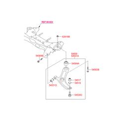 Втулка подвески (Hyundai-KIA) 545841J000
