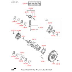 Коленвал (Hyundai-KIA) 6D0262EU00