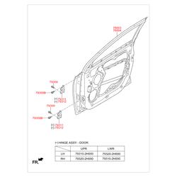 Дверь (Hyundai-KIA) 760042S000