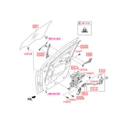 Мотор стеклоподъемника (Hyundai-KIA) 824602S000