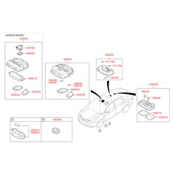 Рассеиватель фонаря подсветки салона (Hyundai-KIA) 928233S000