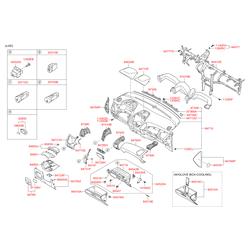 Дефлектор салона (Hyundai-KIA) 974902S0009P