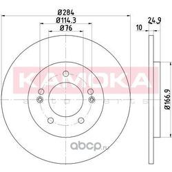 Тормозной диск (KAMOKA) 103175