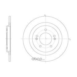 Тормозной диск (KAWE) 6143800