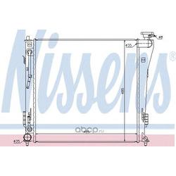 Радиатор, охлаждение двигателя (Nissens) 67552