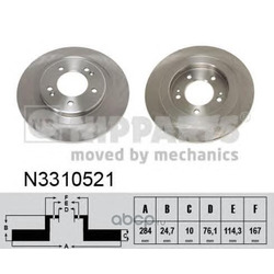 Тормозной диск (Nipparts) N3310521