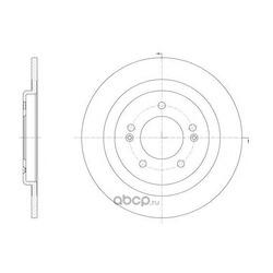 Тормозной диск (WOKING) D6143800