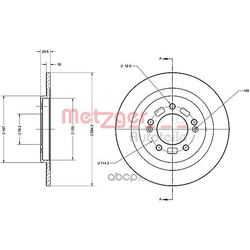 Тормозной диск (METZGER) 6110693