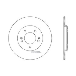Тормозной диск (OPEN PARTS) BDR260810