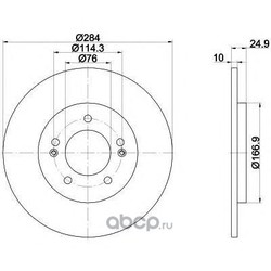 Тормозной диск (Mintex) MDC2360