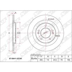 Диск тормозной задний (Sat) ST584113Z100