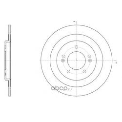 Тормозной диск (Remsa) 6143700