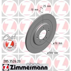 Тормозной диск (Zimmermann) 285352620