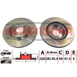 Тормозной диск передний (NAKAYAMA) Q5052