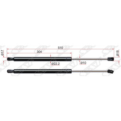 Амортизатор крышки багажника (Sat) ST817712S000