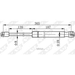 Амортизатор капота (Sat) ST811613Z000