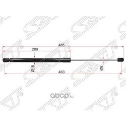 Амортизатор капота (Sat) ST654701LB0A