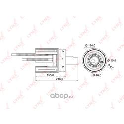 Фильтр топливный погружной (LYNXauto) LF974M