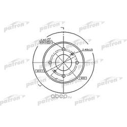 Диск тормозной (PATRON) PBD2592