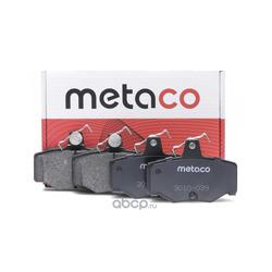 Колодки тормозные задние дисковые (комплект) (METACO) 3010039