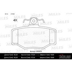 Колодки тормозные задние (Miles) E410070
