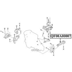 Подушка двигателя левая (QUATTRO FRENI) QF00A00007