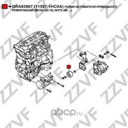 Ролик натяжителя приводного ремня (ZZVF) GRA83867