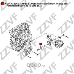 Ролик натяжителя приводного ремня (ZZVF) GRA32665