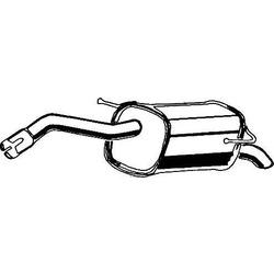 Глушитель выхлопных газов конечный (ASMET) 14050