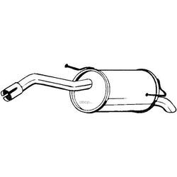 Глушитель выхлопных газов конечный (Klokkerholm) 145125