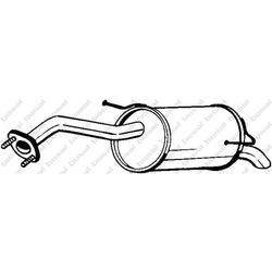 Глушитель выхлопных газов конечный (Bosal) 145117