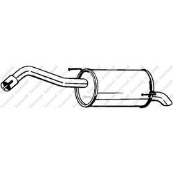 Глушитель выхлопных газов конечный (Bosal) 145127
